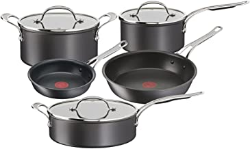 Jamie Oliver by Tefal Cooks Classic Induction Non-Stick Hard Anodised 5pc Set Black