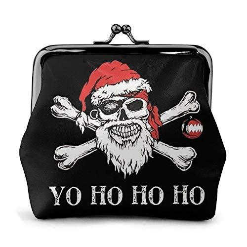 Santa Claus Piratenhut Vintage Tasche für Mädchen, Geldbörse, Geldbörse, Lederschnalle, Geldbörse, Schlüssel, Damen, bedruckt