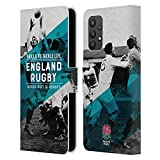 Head Case Designs sous Licence Officielle England Rugby Union Skills to Tackle Life History Coque en Cuir à Portefeuille Compatible avec Samsung Galaxy A32 5G (2021)