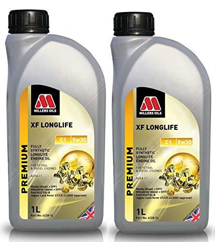Millers Oils XF Longlife 5w30 C1 volledig synthetische motorolie, 2 liter