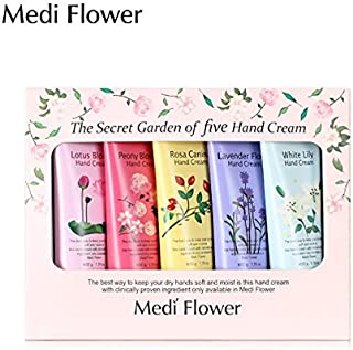[MediFlower] ザ?シークレットガーデン?ハンドクリームセット(50g x 5個) / The Secret Garden of Five Hand Cream Set