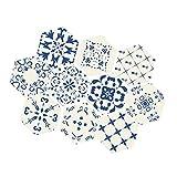 Fenteer 10 Piezas de Pegatinas de Suelo: Pegatinas de Azulejos para Salpicaduras Y Salpicaduras Adhesivas Impermeables Y Extraíbles para Renovaciones de Muebl - #G, Individual