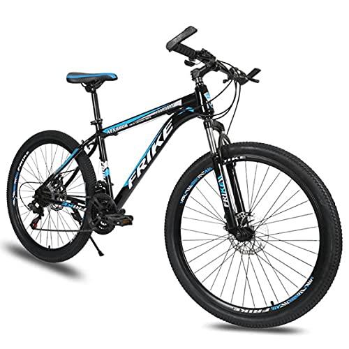 Bicicletas de montaña de 26 pulgadas y 3 radios Bicicleta de freno de disco dual de 21/24/27 velocidades con marco de aleación de aluminio para hombres, mujeres, adultos y adolescentes (tamaño: 21 vel