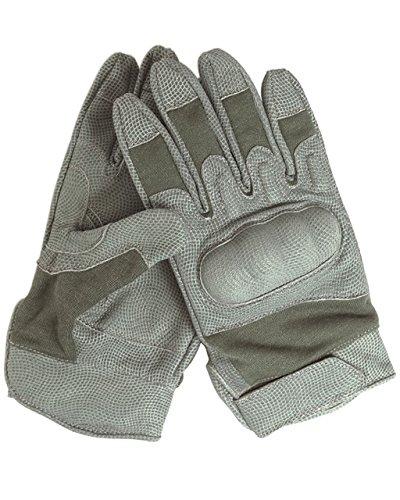 Mil-Tec Nomex Action Gloves Flammenhemmend Knöchelschutz Handschuhe Schutzhandschuhe Flammhandschuhe Foliage (Grau) S-XXL (XL/10)