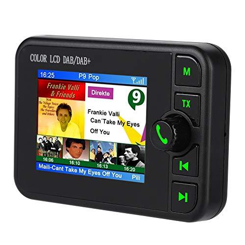 Wendry DAB Auto Radio,2.4 Zoll LCD Farbdisplay Auto FM Radio,170-240 MHz DAB/87,5-108 MHz FM Digital Radio,Unterstützt die Wiedergabe von TF Karten und Bluetooth Musik