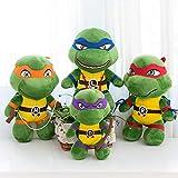 Un ensemble d'animation de la variante de la tortue aux grands yeux jouets en peluche Teenage Mutant Ninja Turtles en peluche cadeau 25 cm