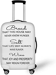 Luggage Protector Cover Elasticity Suitcase Cover Travel Luggage Cover Bread Salt Wine Sign It'S A Wonderful Life Sign Color1 L