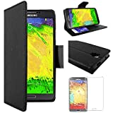 ebestStar - Compatible Coque Samsung Galaxy Note 3 Lite SM-N7505 Etui PU Cuir Housse Portefeuille Porte-Cartes Support Stand, Noir...