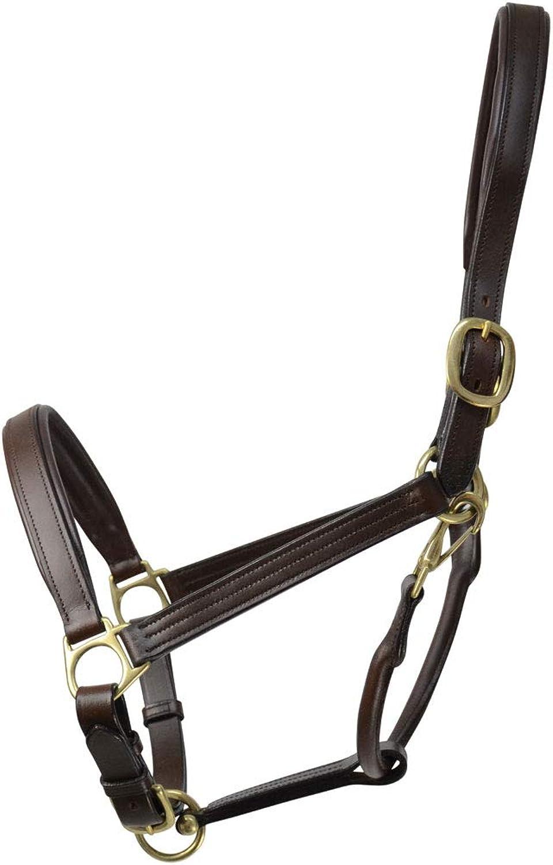 Coldstream Leather Padded Head Collar PR16836 Brown Full 16839