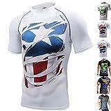 khroom maglietta a compressione con supereroi – migliora le performance sportive, riduce il sudore – maglia uomo per ogni tipo di sport