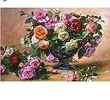 Nonebranded Kit Manualidades Decoraciones para El Hogar Arreglo Floral Pintura por Número De Kit Regalo para Adultos O Niños DIY 40X50Cm