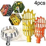 Apofly Conjunto de recolectores de Frutas telescópicas Capturador de Frutas 4 Pcs