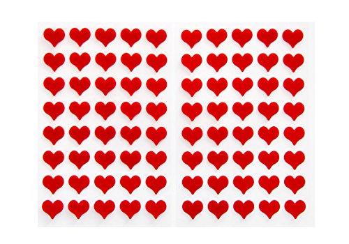 Logbuch-Verlag 80 kleine 1,4 cm rote Herzen Filzherzen Filz Sticker Herzaufkleber mini selbstklebend Weihnachtsdeko Hochzeit Deko Geburtstag