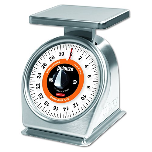 Pelouze Easy Wash Dishwasher Safe Mechanical Portion Control Scale