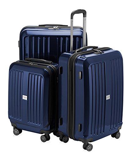 HAUPTSTADTKOFFER - X-Berg - 3er Koffer-Set Koffer Trolley Hartschalenkoffer, TSA (S, M, L ), Dunkelblau