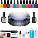 CND SHELLAC 'Superior Service System' Starter Kit inc. CND LED Lamp, 12x CND Shellac Colours, Base Coat, Top Coat & much more