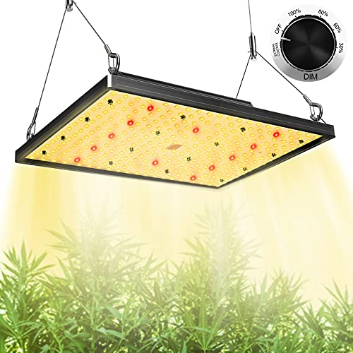 LED Grow Lights, SP1000W Pro Plant Grow Light with Samsung LED, Sunlike Full Spectrum Grow Light with 3x3ft Coverage for Indoor Plants Seeding, Flowering, Dimmable Grow Lamp for Greenhouse, No Noise