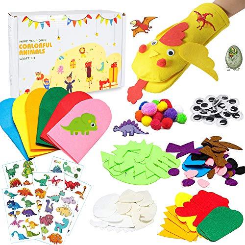 specool Bastelzubehör kinder, DIY Art Craft Handpapier Puppen Kit, Modernes Kinderhandwerk, das Spielzeug herstellt, Partyzubehör Kinder Rollenspielzeug für Kinder, DIY Filzdekore