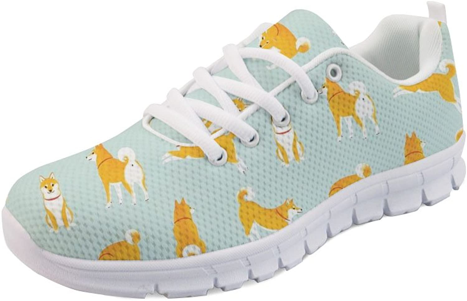 STARTERY Women's Cute Animal Pattern Lightweight Sport Sneaker Tennis Training shoes