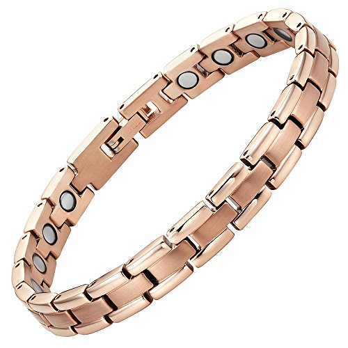 Titanium Magnetic Therapy Bracelet for Arthritis Pain Relief Adjustable with gift box by Willis Judd