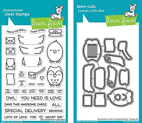 Lawn Fawn - Special Delivery - Stamp and Die - 2 Item Bundle