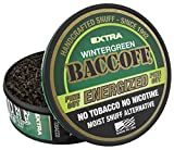 BaccOff, Wintergreen Energized Fine Cut, Premium Tobacco Free, Nicotine Free Snuff Alternative (5 Cans)