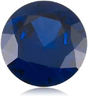 Mysticdrop Synthetic Round Cut Swiss Made Rough Blue Sapphire from 4MM-10MM