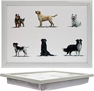Leonardo Collection Dogs Design Lap Tray - Bean Bag Serving Tray - Gift For Pet Lovers