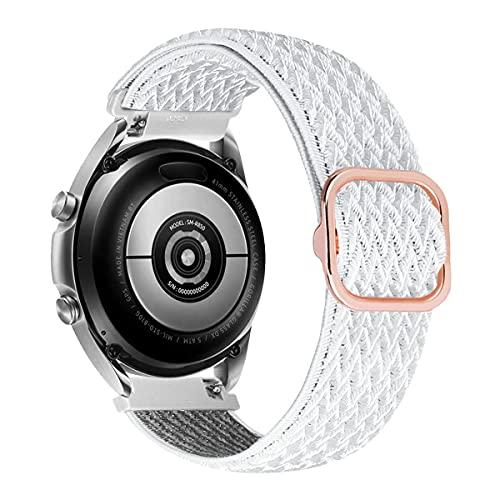 MroTech Compatible con Samsung Galaxy Active/Active2 40mm/44mm/Galaxy Watch 3 41mm/Galaxy 42mm Correa Nailon elástico 20mm Pulseras Repuesto para Huawei GT 2 42 mm Banda Nylon Woven Band-Ola Vongola