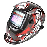 FIXKIT Solar Powered Welding Helmet Automatic Darkening and Eye-protecting Mask Shield Knight Design