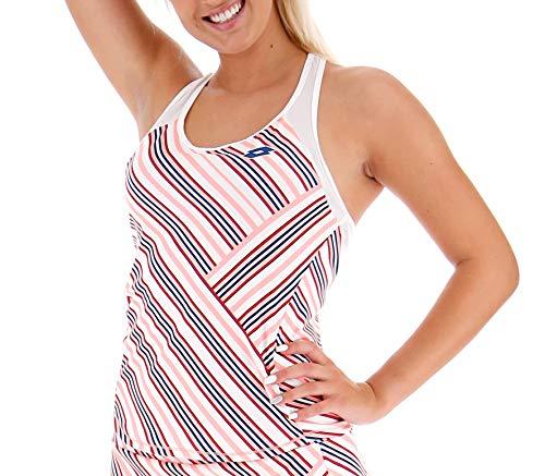 Lotto Femme Barré Blanc Rose S Vêtements d'extérieur S