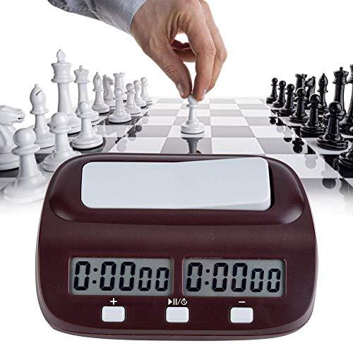 Bnineteenteam Reloj de ajedrez Juego de Mesa Juegos de ajedrez Temporizador electrónico Cuenta Regresiva Temporizador de Juego de Mesa con Pantalla LCD