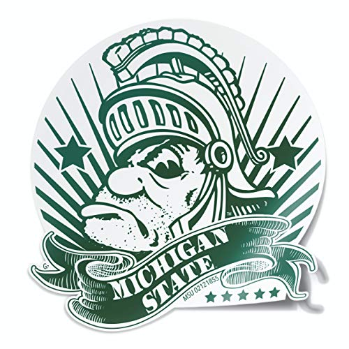 Michigan State University Gruff Money Sparty Car Decal Sticker Made in East Lansing, Michigan