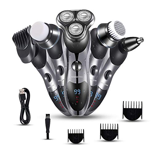 5 in 1 Rotary Shavers for Men - Razors for Men - LED Display...