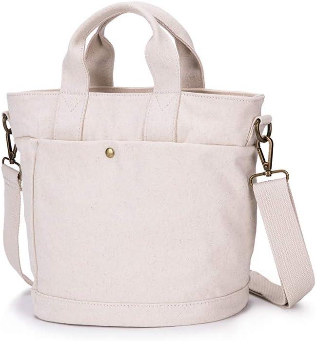 Hobo Bag Women's Canvas Shoulder Bags Crossbody Tote Purse Work Travel Work Book Handbag Satchel (Beige)