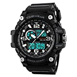TIMEWEAR Analogue - Digital Men's Watch (Black Dial Black Colored Strap)