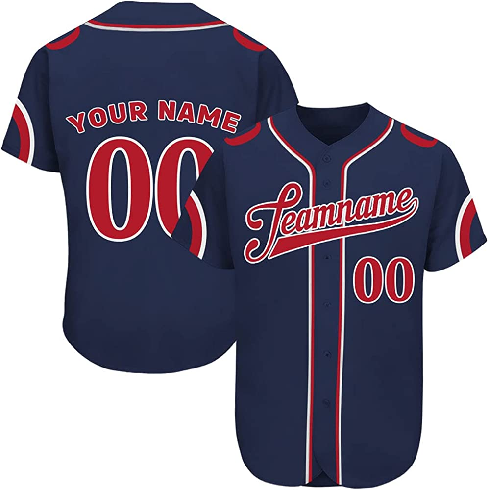 Custom Regular discount Novelty Button-Down Baseball Jerseys Printed Personalized Chicago Mall