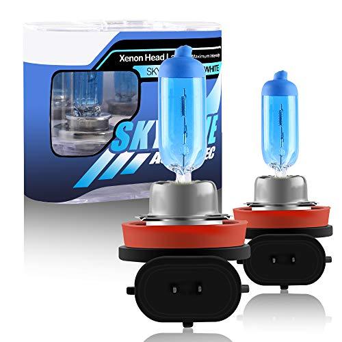 KaiDengZhe 2 pz H11 Super brillante alogena lampadina allo xenon sostituzione 55W 12V alta bassa lampada del fascio auto auto faro fendinebbia (bianco)