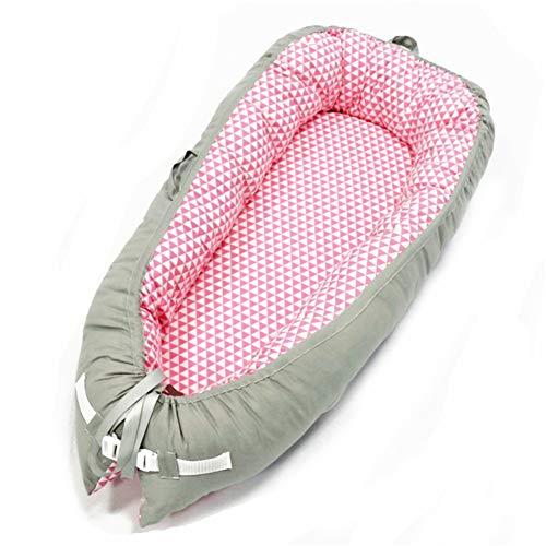 NSSTAR Nido de Bebé, Hamaca para Bebé Cuna de Bebé para Dormir Junto a La Cama Hamaca para Recién Nacidos Cuna de Algodón Suave Transpirable Y Portátil Viajar Y Dormir