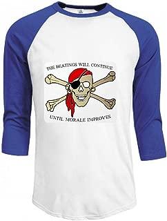 海賊の殴打は士気を続ける Men Raglan Sleeve T-Shirt メンズ Tシャツ