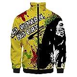 Bob Marley Pullover Manga de la Camiseta del Todo-fósforo Largo Pullover Thinner Chaquetas Abrigos Suave y Transpirable Hoodies del Ocio Outwear Unisex Unisex (Color : A06, Size : XXL)