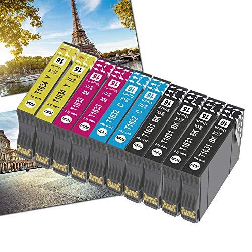 OGOUGUAN 16XL Cartucce d'inchiostro per Epson 16 Multipack Compatibili con Epson Workforce WF-2010 WF-2510 WF-2520 WF-2530 WF-2540 WF-2630 WF-2650 WF-2660 WF-2750 WF-2760(10pcs)