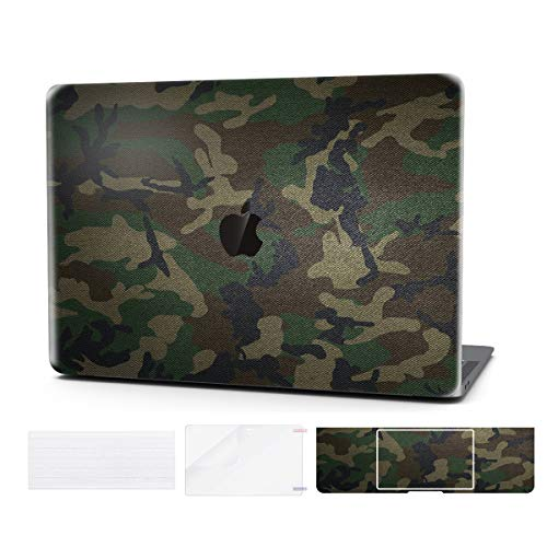 Laptop Case for MacBook Pro 13 Inch Keyboard Cover Plastic Hard Shell Touch Bar with Screen Protector for Mac Pro 13 Inch (Model:A1706/A1708/A1989), Camo