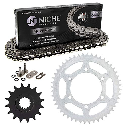NICHE Drive Sprocket Chain Combo for Yamaha YZF-R6 YZF-R6S Front 16 Rear 48 Tooth 520V O-Ring 116 Links