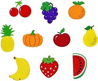 VOSAREA 10 Morceaux de Fruits créatifs Forme Aimant de réfrigérateur de Bande dessinée Autocollant aimants de Fruits pour ...