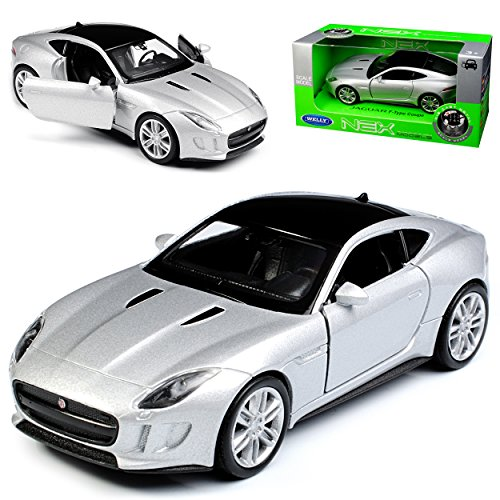 mächtig der welt Welly Jaguar F-Type Coupé Silber Ungefähr ab 2013. 1/43 1 / 36-1 / 46 Automodelle
