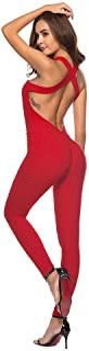Zegeey Women's One Piece Sport Yoga Jumpsuit Running Fitness Workout Gym Tight Pants