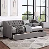 FLIEKS Upholstered Daybed with Two Storage...