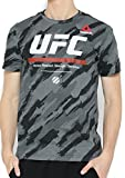 Reebok Mens UFC UFAN Triblend Printed Martial Arts T Shirt (Large) Grey