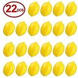 Yinger-WG Fake Fruit 22pcs Kitchen Party Decoration Artificial Fake Lemons Faux Lemons Fruits in Yellow 3' Long x 2' Wide